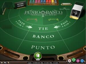 Punto Banco spelen